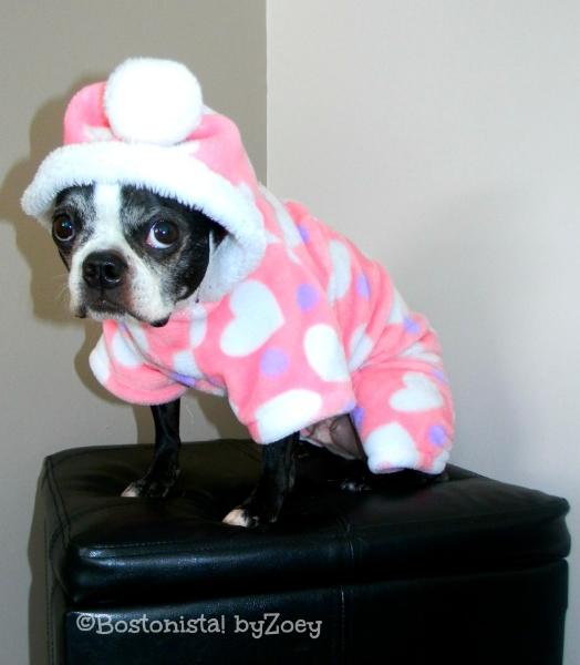 dog pajamas- pink-heart-pjs Daisy