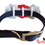 Slide bow tie onto any collar. Collar not included.